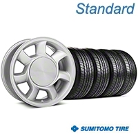 93 Cobra Silver Wheel & Sumitomo AS Tire Kit - 17x8.5 (87-93; Excludes 93 Cobra) - American Muscle Wheels KIT||101003||63003