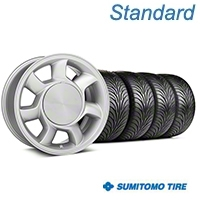 93 Cobra Silver Wheel & Sumitomo Tire Kit - 17x8.5 (87-93; Excludes 93 Cobra) - American Muscle Wheels KIT||101003||63010