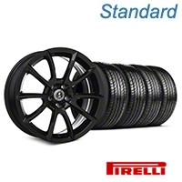 Shelby Super Snake Style Black Wheel & Pirelli Tire Kit- 19x8.5 (05-14 All) - Shelby KIT||101405||63101