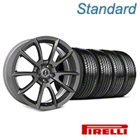 Shelby Super Snake Style Charcoal Wheel & Pirelli Tire Kit- 19x8.5 (05-14 All) - Shelby KIT||101409||63101