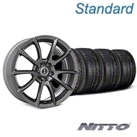 Shelby Super Snake Style Charcoal Wheel & NITTO INVO Tire Kit- 19x8.5 (05-14 All) - Shelby KIT||101409||79521