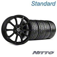 Shelby Super Snake Style Black Wheel & NITTO Tire Kit - 20x9 (05-14 All) - Shelby KIT||101407||76005