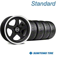 SC Style Black Wheel & Sumitomo Tire Kit - 17x9 (99-04 All) - American Muscle Wheels KIT||101001||63001