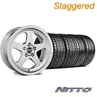 Staggered SC Style Chrome Wheel & NITTO Tire Kit - 17x9/10.5 (99-04 All) - American Muscle Wheels KIT||100997||101000||76000||76014