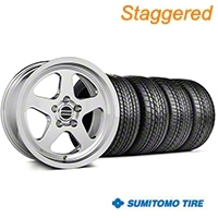 Staggered SC Style Chrome Wheel & Sumitomo Tire Kit - 17x9/10.5 (99-04 All) - American Muscle Wheels KIT||100997||101000||63000||63003