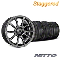 Staggered Super Snake Style Chrome Wheel & NITTO INVO Tire Kit - 20x9/10 (05-14 All) - Shelby KIT||101415||101416||79524||79525