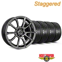 Staggered Super Snake Style Chrome Wheel & Mickey Thompson Tire Kit - 19x8.5/10 (05-14 All) - Shelby KIT||101413||101414||79539||79540