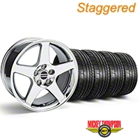 Staggered 2003 Cobra Style Chrome Wheel & Mickey Thompson Tire Kit - 17x9/10.5 (99-04 All) - American Muscle Wheels KIT||28004||28119||79532||101925