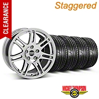 Staggered 10th Anniversary Style Chrome Wheel & Mickey Thompson Tire Kit - 17x9/10.5 (99-04 All) - American Muscle Wheels KIT||28340||28343||79532||101925