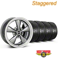 Staggered Bullitt Anthracite Wheel & Mickey Thompson Tire Kit 17x9/10.5 (99-04 All) - American Muscle Wheels KIT||28319||28321||79532||101925