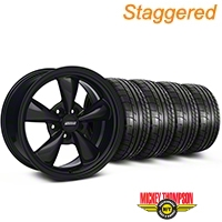 Staggered Bullitt All Black Wheel & Mickey Thompson Tire Kit 17x9/10.5 (99-04 All) - American Muscle Wheels KIT||28480||28479||79532||101925