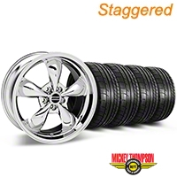 Staggered Bullitt Chrome Wheel & Mickey Thompson Tire Kit - 17x9/10.5 (99-04 All) - American Muscle Wheels KIT||28262||28115||79532||101925