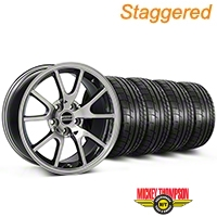 Staggered FR500 Style Chrome Wheel & Mickey Thompson Tire Kit - 17x9/10.5 (99-04 All) - American Muscle Wheels KIT||28094||28095||79532||101925
