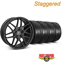 Forgestar Staggered F14 Matte Black Wheel & Mickey Thompson Tire Kit - 17x9/10.5 (99-04 All) - Forgestar KIT||29863||29864||79532||101925