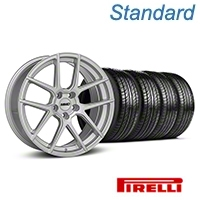 MMD Zeven Silver Wheel & Pirelli Tire Kit - 19x8.5 (05-14 All) - MMD KIT||101917||63101