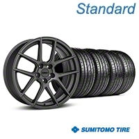 MMD Zeven Charcoal Wheel & Sumitomo Tire Kit - 19x8.5 (05-14 All) - MMD KIT||101913||63036