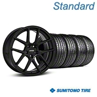 MMD Zeven Black Wheel & Sumitomo Tire Kit - 19x8.5 (05-14 All) - MMD KIT||101915||63036