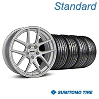 MMD Zeven Silver Wheel & Sumitomo Tire Kit - 19x8.5 (05-14 All) - MMD KIT||101917||63036