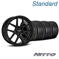 MMD Zeven Black Wheel & NITTO INVO Tire Kit - 20x8.5 (05-14 All) - MMD KIT||101921||79524