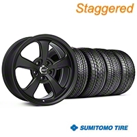 Mickey Thompson Staggered SC-5 Flat Black Wheel & Sumitomo Tire Kit - 17x9/10 (99-04 All) - Mickey Thompson KIT||101928||101929||63000||63003