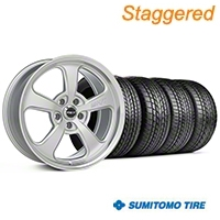 Mickey Thompson Staggered SC-5 Silver Wheel & Sumitomo Tire Kit - 17x9/10 (99-04 All) - Mickey Thompson KIT||101936||101937||63000||63003