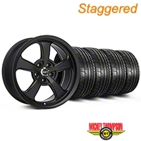 Mickey Thompson Staggered SC-5 Flat Black Wheel & Mickey Thompson Tire Kit - 17x9/10 (99-04 All) - Mickey Thompson KIT||101928||101929||79532||101925
