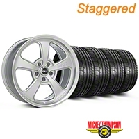 Mickey Thompson Staggered SC-5 Silver Wheel & Mickey Thompson Tire Kit - 17x9/10 (99-04 All) - Mickey Thompson KIT||101936||101937||79532||101925