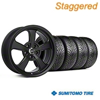 Mickey Thompson Staggered Flat Black SC-5 Wheel & Sumitomo Tire Kit - 18x9/10.5 (99-04 All) - Mickey Thompson KIT||101930||101931||63006||63016