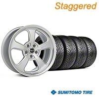 Mickey Thompson Staggered Silver SC-5 Wheel & Sumitomo Tire Kit - 18x9/10.5 (99-04 All) - Mickey Thompson KIT||101938||101939||63006||63016