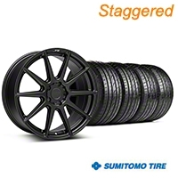 Niche Staggered Matte Black Essen Wheel & Sumitomo Tire Kit 19x8.5/10 (05-14 All) - Niche KIT||101773||101774||63036||63037