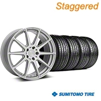 Niche Staggered Silver Essen Wheel & Sumitomo Tire Kit 19x8.5/10 (05-14 All) - Niche KIT||101777||101778||63036||63037