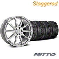 Niche Staggered Silver Essen Wheel & NITTO INVO Tire Kit 19x8.5/10 (05-14 All) - Niche KIT||101777||101778||79520||79521