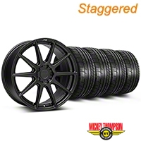 Niche Staggered Matte Black Essen Wheel & NITTO INVO Tire Kit 19x8.5/10 (05-14 All) - Niche KIT||101773||101774||79539||79540
