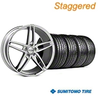 Foose Staggered Chrome Stallion Wheel & Sumitomo Tire Kit - 20x8.5/10 (05-14 All) - Foose KIT||101787||101788||63024||63025