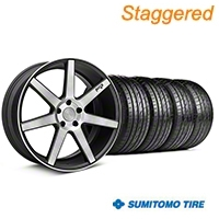 Niche Staggered Black Double Dark Verona Wheel & Sumitomo Tire Kit - 20x9/10 (05-14 All) - Niche KIT||101785||101786||63024||63025