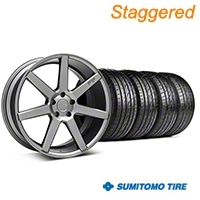 Niche Staggered Anthracite Verona Wheel & Sumitomo Tire Kit - 20x9/10 (05-14 All) - Niche KIT||101783||101784||63024||63025