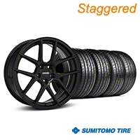 MMD Staggered Zeven Black Wheel & Sumitomo Tire Kit - 20x8.5/10 (05-14 All) - MMD KIT||101921||101922||63024||63025