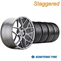 HRE Staggered Flowform FF01 Liquid Silver Wheel & Sumitomo Tire Kit - 20x9.5/10.5 (05-14 All) - HRE KIT||101859||101860||63024||63025