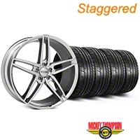 Foose Staggered Chrome Stallion Wheel & Mickey Thompson Tire Kit - 20x8.5/10 (05-14 All) - Foose KIT||101787||101788||79541||79542
