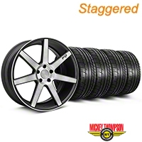 Niche Staggered Black Double Dark Verona Wheel & Mickey Thompson Tire Kit - 20x9/10 (05-14 All) - Niche KIT||101785||101786||79541||79542