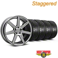 Niche Staggered Anthracite Verona Wheel & Mickey Thompson Tire Kit - 20x9/10 (05-14 All) - Niche KIT||101783||101784||79541||79542