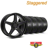 Niche Staggered Matte Black GT5 Wheel & Mickey Thompson Tire Kit - 20x8.5/10.5 (05-14 All) - Niche KIT||101781||101782||79541||79542