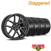 MMD Staggered Zeven Charcoal Wheel & Mickey Thompson Tire Kit - 20x8.5/10 (05-14 All) - MMD KIT||101919||101920||79541||79542