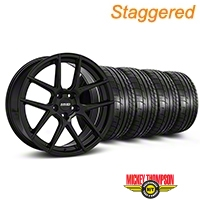 MMD Staggered Zeven Black Wheel & Mickey Thompson Tire Kit - 20x8.5/10 (05-14 All) - MMD KIT||101921||101922||79541||79542
