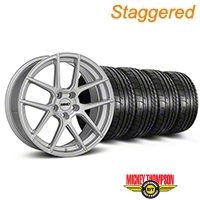 MMD Staggered Zeven Silver Wheel & Mickey Thompson Tire Kit - 20x8.5/10 (05-14 All) - MMD KIT||101923||101924||79541||79542