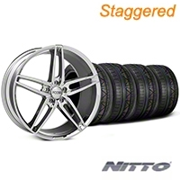Foose Staggered Chrome Stallion Wheel & NITTO Invo Tire Kit - 20x8.5/10 (05-14 All) - Foose KIT||101787||101788||79524||79525