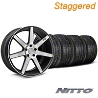 Niche Staggered Black Double Dark Verona Wheel & NITTO INVO Tire Kit - 20x9/10 (05-14 All) - Niche KIT||101785||101786||79524||79525
