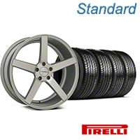 Matte Silver Machined CV3 Wheel & Pirelli Tire Kit - 19x8.5 (05-14 All) - Vossen KIT||102160||63101