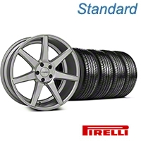 Silver Polished CV7 Wheel & Pirelli Tire Kit - 19x8.5 (05-14 All) - Vossen KIT||102168||63101