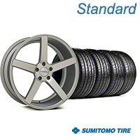 Matte Silver Machined CV3 Wheel & Sumitomo Tire Kit - 19x8.5 (05-14 All) - Vossen KIT||102160||63036